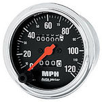 "Parts -  Instrument Gauges - Auto Meter Traditional Chrome Series 3-3/8"" 0-120 Mph Mechanical Speedometer"