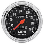 "Parts -  Instrument Gauges - Auto Meter Traditional Chrome Series 3-3/8"" 0-160 Mph Mechanical Speedometer"