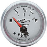 "Parts -  Instrument Gauges - Auto Meter Ultra Lite Ii 2-1/16"" Gm Fuel Level Gauge. Electric 0-90 Ohm, Short Sweep"