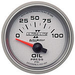"Parts -  Instrument Gauges - Auto Meter Ultra Lite Ii 2-1/16"" Oil Pressure Gauge. Electric 0-100 Psi, Short Sweep"