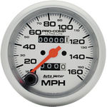 "Parts -  Instrument Gauges - Auto Meter Ultra Lite Series 3-3/8"" 0-160 Mph Mechanical Speedometer"