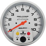 "Parts -  Instrument Gauges - Auto Meter Ultra Lite Series 5"" 0-10,000 Rpm Tachometer With Memory"