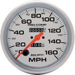 "Parts -  Instrument Gauges - Auto Meter Ultra Lite Series 5"" 0-160 Mph Mechanical Speedometer"
