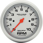 "Parts -  Instrument Gauges - Auto Meter Ultra Lite Series 3-3/8"" 0-10,000 Rpm Tachometer"