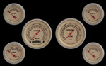 Parts -  Instrument Gauges - (6 Gauge Set) - Vintage Series 12v