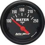 "Parts -  Instrument Gauges - Auto Meter Z Series 2-1/16"" Temp Gauge. Electric 100-250 Deg., Short Sweep"